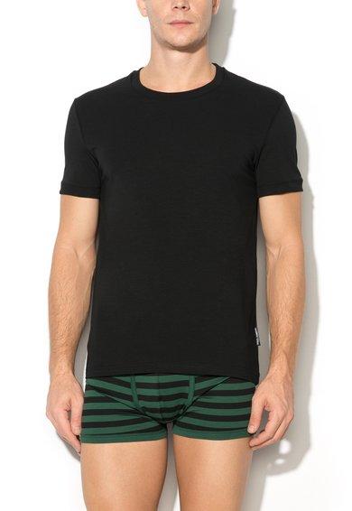 Dolce&Gabbana Tricou negru cu decolteu rotund