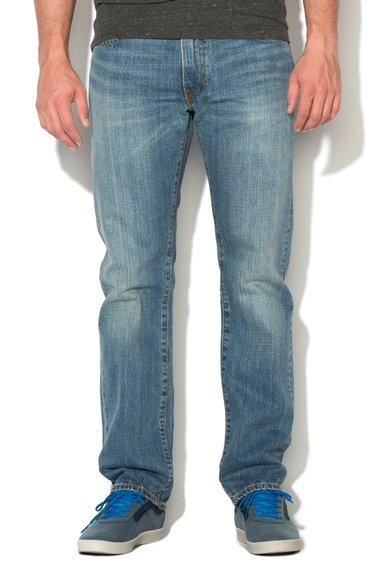 Jeansi regular fit bleu cu croiala dreapta 504™