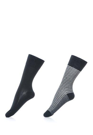FashionDays.ro: Set de sosete negru cu gri in dungi 168SF – 2 perechi Levis