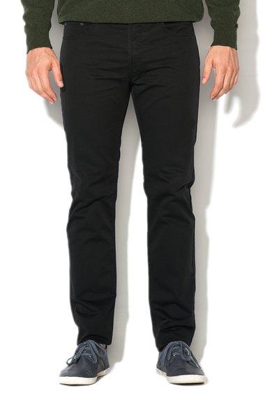 FashionDays.ro: Pantaloni slim fit negri cu croiala dreapta United Colors Of Benetton