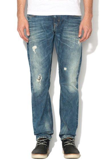Mustang Jeansi slim fit albastri decolorati albastri