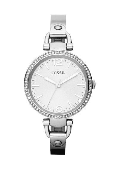 Ceas argintiu cu cristale Georgia Glitz de la Fossil