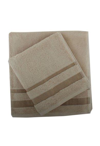 Set bej inchis de prosoape de maini si de baie – 2 piese de la Leunelle