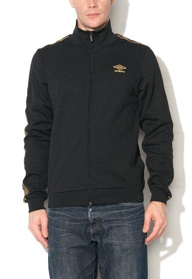 Umbro Bluza sport neagra cu fermoar