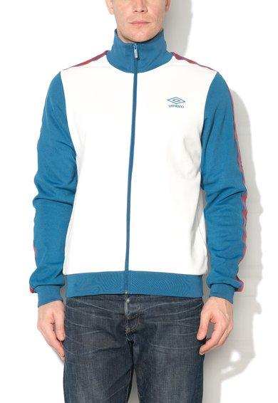 Umbro Bluza sport cu fermoar alb cu albastru