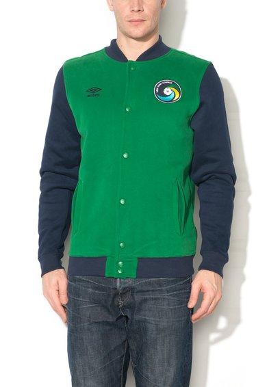Jacheta college verde cu bleumarin de la Umbro