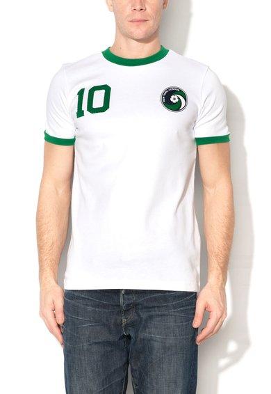 Umbro Tricou alb cu garnituri verzi