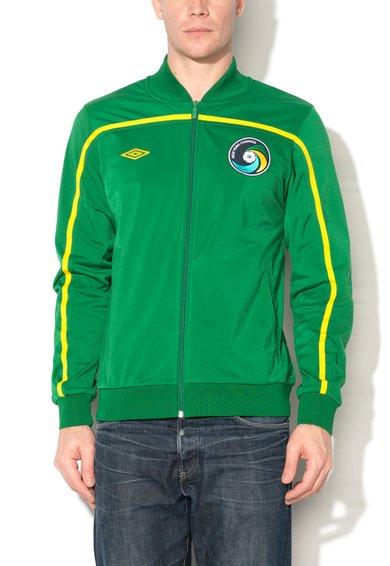 Umbro Bluza sport verde smarald cu fermoar si cu logo Cosmos
