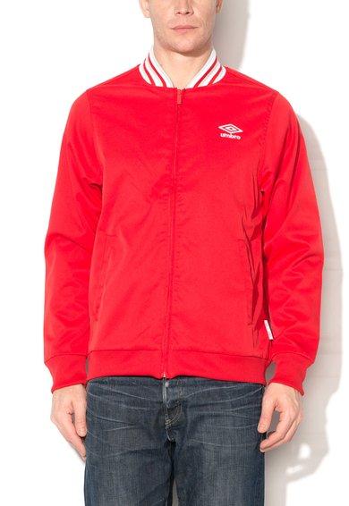 Jacheta bomber rosie cu fermoar