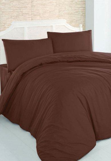 Leunelle Set de pat maro inchis din material ranforce