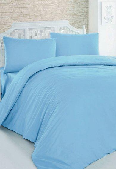 Leunelle Set de pat turcoaz din material ranforce