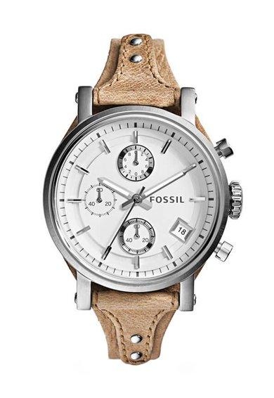 FashionDays.ro: Ceas cronograf argintiu cu maro deschis Original Fossil