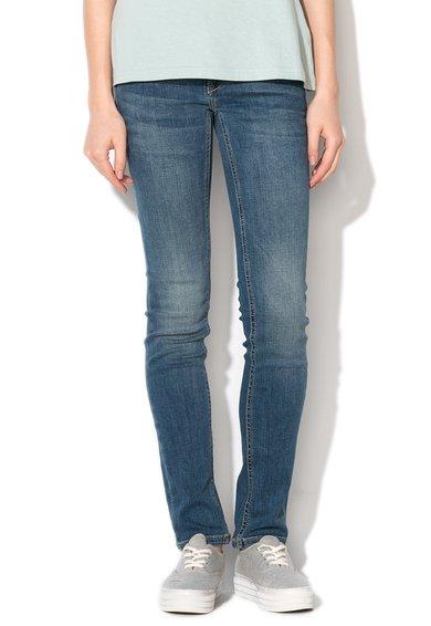 Mustang Jeansi albastri skinny cu talie joasa Gina