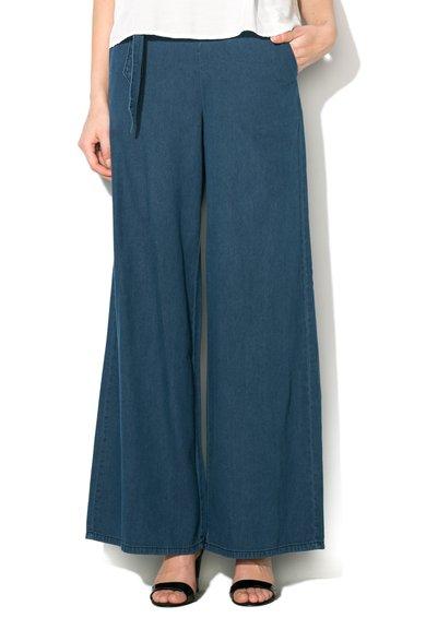FashionDays.ro: Fusta-pantalon maxi albastra din denim Silvian Heach Denim