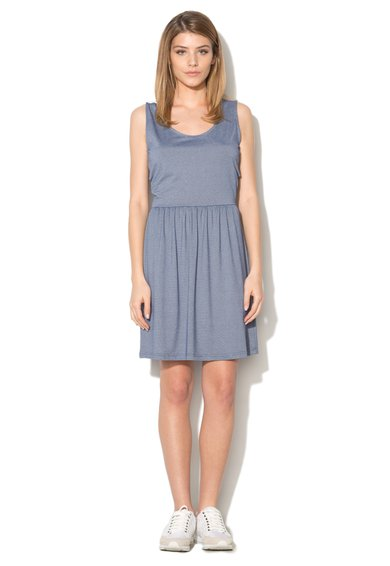 Rochie albastra cu decolteu cache coeur pe partea din spate Supe