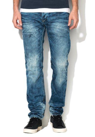 Jeansi slim albastri albastri decolorati Twister