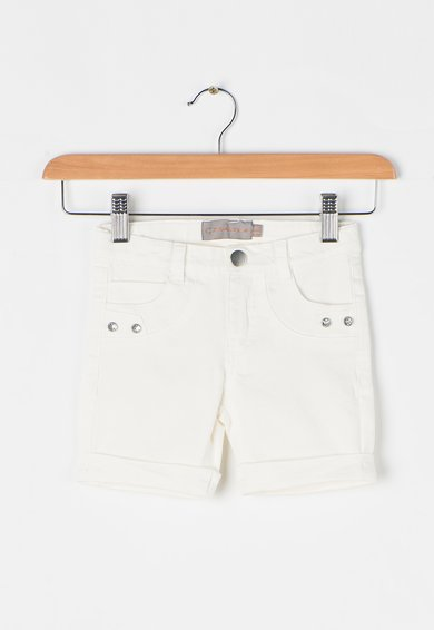Creamie Pantaloni scurti alb murdar din denim Etna