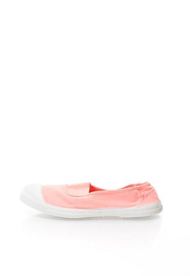 Pantofi slip-on corai din panza de la Bensimon