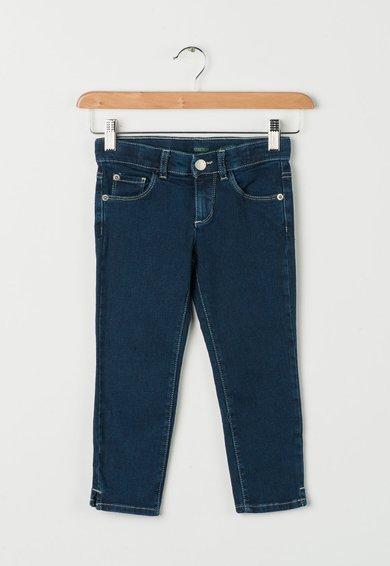 Jeansi skinny elastici albastru inchis de la United Colors Of Benetton