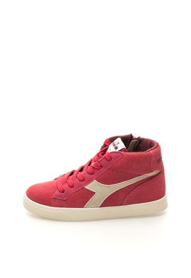 Pantofi casual inalti roz zmeuriu de la Diadora