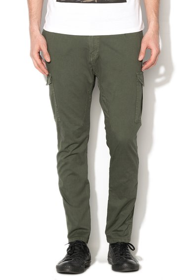 Pantaloni cargo verde militar de la Alcott