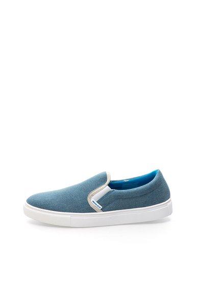 VERSACE JEANS Pantofi slip-on albastri din denim