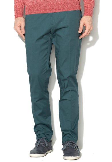Pantaloni chino slim fit albastru petrol