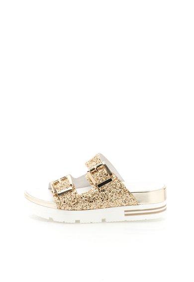 FashionDays.ro: Papuci wedge aurii Onice Tosca Blu
