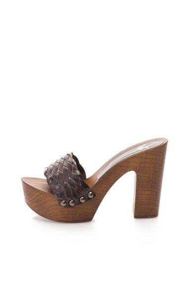 FashionDays.ro: Saboti maro cu varf deschis Chantal Versace 1969 Abbigliamento Sportivo