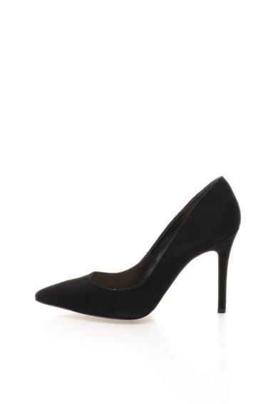 FashionDays.ro: Pantofi negri din piele intoarsa cu varf ascutit Mathilde Versace 1969 Abbigliamento Sportivo
