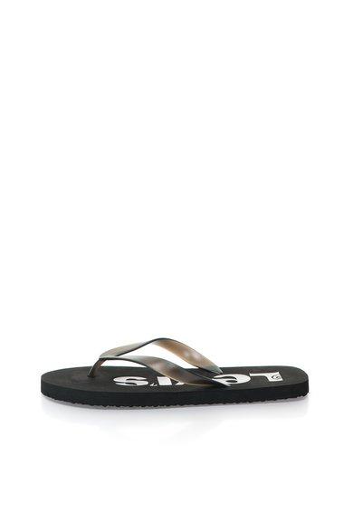 Papuci flip-flop negri transparenti de la Levis