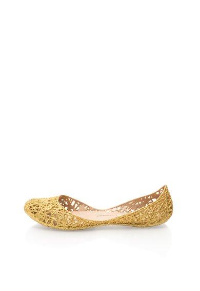 Melissa Balerini cauciucati auriu stralucitor Zig Zag
