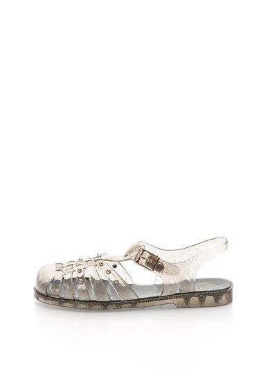 Sandale cauciucate transparente cu negru Giverola de la Gioseppo