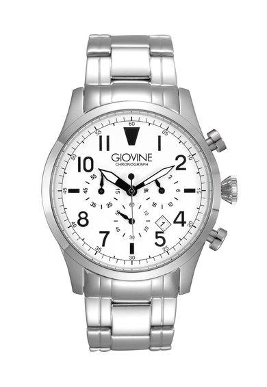 Giovine Ceas cronograf argintiu