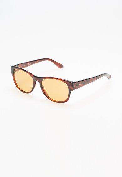 FashionDays.ro: Ochelari de soare maro lemn de trandafir cu design tortoise Gucci