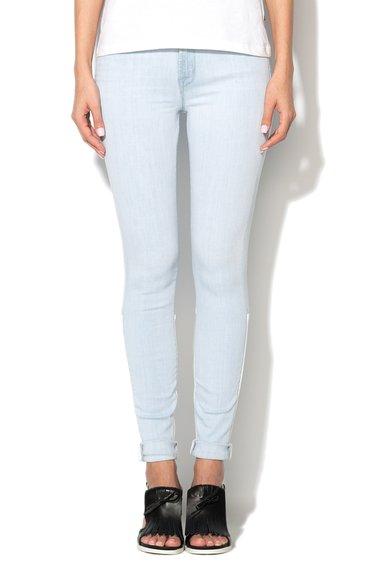 Jeansi skinny albastru azur