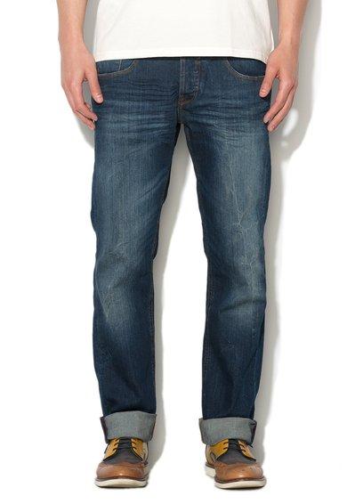 FashionDays.ro: Jeansi albastru inchis cu croiala dreapta GUESS JEANS
