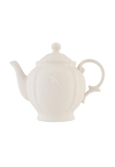 Clayre & Eef Veioza alba de masa in forma de ceainic