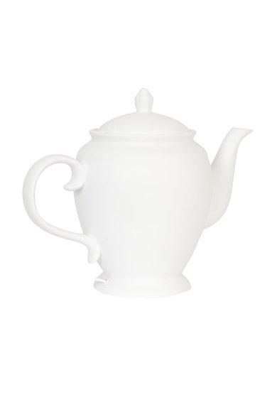 Veioza alba de masa in forma de ceainic