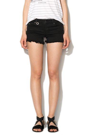Only Pantaloni scurti negri din denim Ultimate