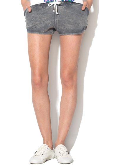 Pantaloni scurti gri maur cu aspect decolorat de la Eleven Paris