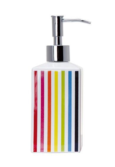 FashionDays.ro: Dozator alb cu dungi multicolore pentru sapun Shine Sorema