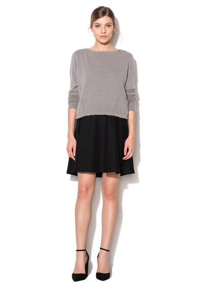 GAS Set negru cu gri de rochie si pulover Lala