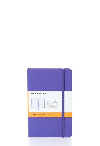 Carnetel mic violet cu pagini dictando de la Moleskine