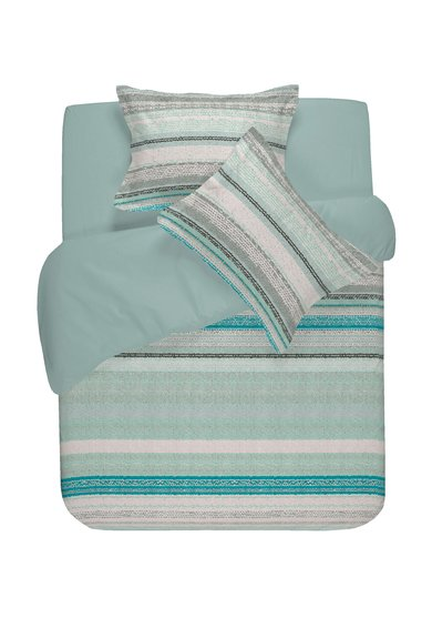 NAF NAF linge de maison Set de pat albastru aquamarin cu imprimeu in dungi Nahua