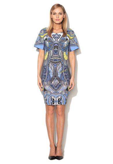 Rochie multicolora cu imprimeuri diverse de la Just Cavalli
