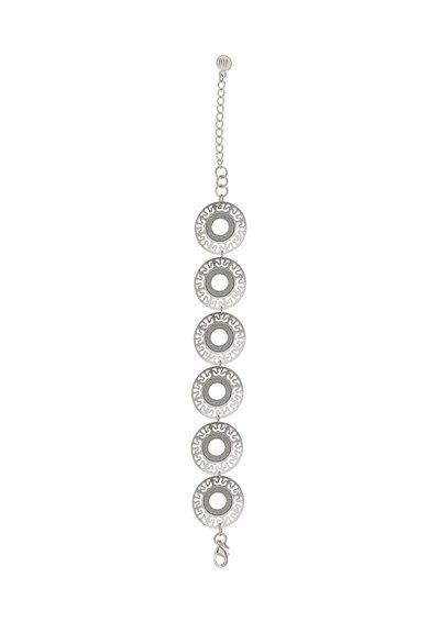 Bratara argintie stralucitoare cu design cu decupaje de la J.Lo by Jennifer Lopez