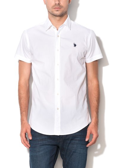 Camasa slim fit alba Greg de la U.S. Polo Assn.