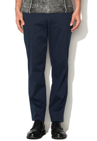 Mexx Pantaloni tailored fit bleumarin cu model discret