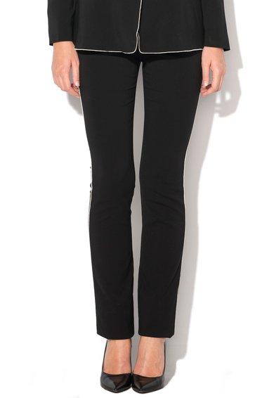 Pantaloni negri cu aplicatii albe Just Cavalli